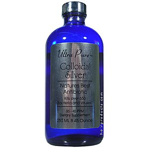Ultra Pure Colloidal Silver Natures Best Antibiotic 8.45 oz/250ml