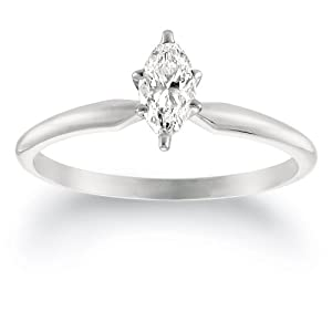 White Gold marquise cut diamond ring