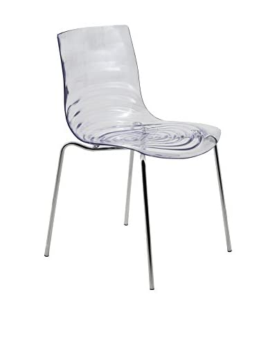 LeisureMod Astor Modern Dining Chair, Clear