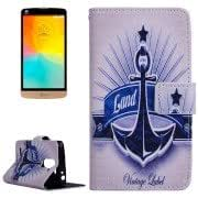 Abstract Symbol Pattern Horizontal Flip Leather Case with Holder Card Slots Wallet for LG L Prime / D337