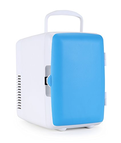 Uber Appliance UB-KH1 Uber Kuhl Electric Personal and Portable 4 Liter/6 can Mini fridge cooler and warmer AC/DC for Car, RV, Home, Dorm and Office (Blue) (Mini Car Fridge compare prices)