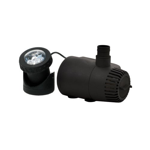 TotalPond MD11170ASL 170 GPH Low Water Shut-Off Fountain Pump with Light