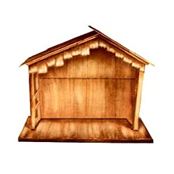 Outdoor nativity stable plans 74 quot large wooden outdoor religious