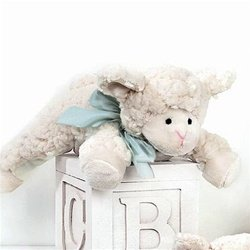 "Baby Baa Lamb Rattle 8"" by Bearington"