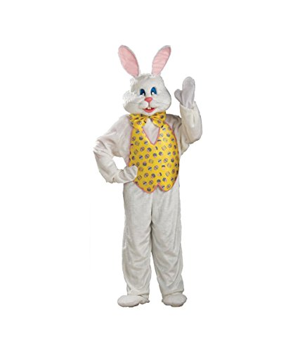 Easter Bunny Adult Mascot Costume deluxe Suit