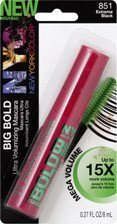 New York Color Big Bold Ultra Volumizing Mascara, 815 Extreme Black - 0.27 Oz, Pack of 2