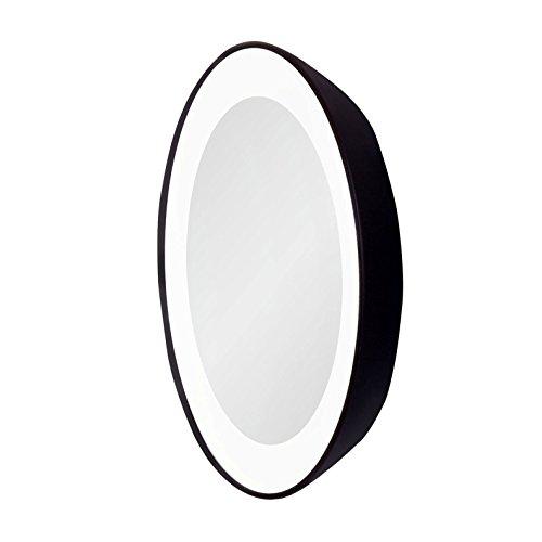 zadro 15x next generation led lighted spot mirror black. Black Bedroom Furniture Sets. Home Design Ideas