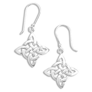 Sterling Silver Celtic Style French Wire Earrings