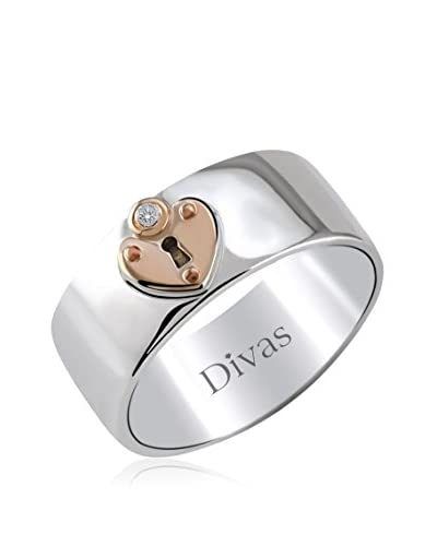 Divas Diamond Anello Diamond Heart Lock [Argento]