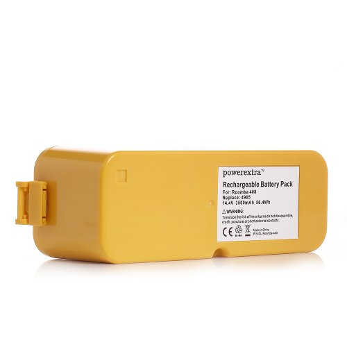Powerextra™ 14.4V Replacement Battery Compatible With Irobot Roomba 4000 4100 4105 4110 4130 4150 4170 4188 4210 4220 4225 4230 4232 4250 4260 4296 400 405 410 415 416 418 3.5Ah Extended High Capacity