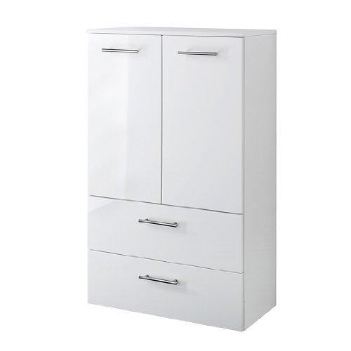 Held Möbel 220.3007 Unité de rangement en hauteur avec 1 placard à 2 compartiments et 2 tiroirs Blanc 35 x 114 x 35 cm