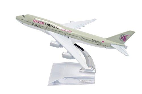 TANG DYNASTY(TM) 1:400 16cm Boing B747-400 Qatar Airways Plane Metal Airplane Model Plane Toy Plane Model (Qatar Airways Model compare prices)