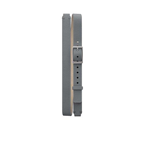 Misfit Ray Double-Wrap bande de cuir de couleur gris foncé