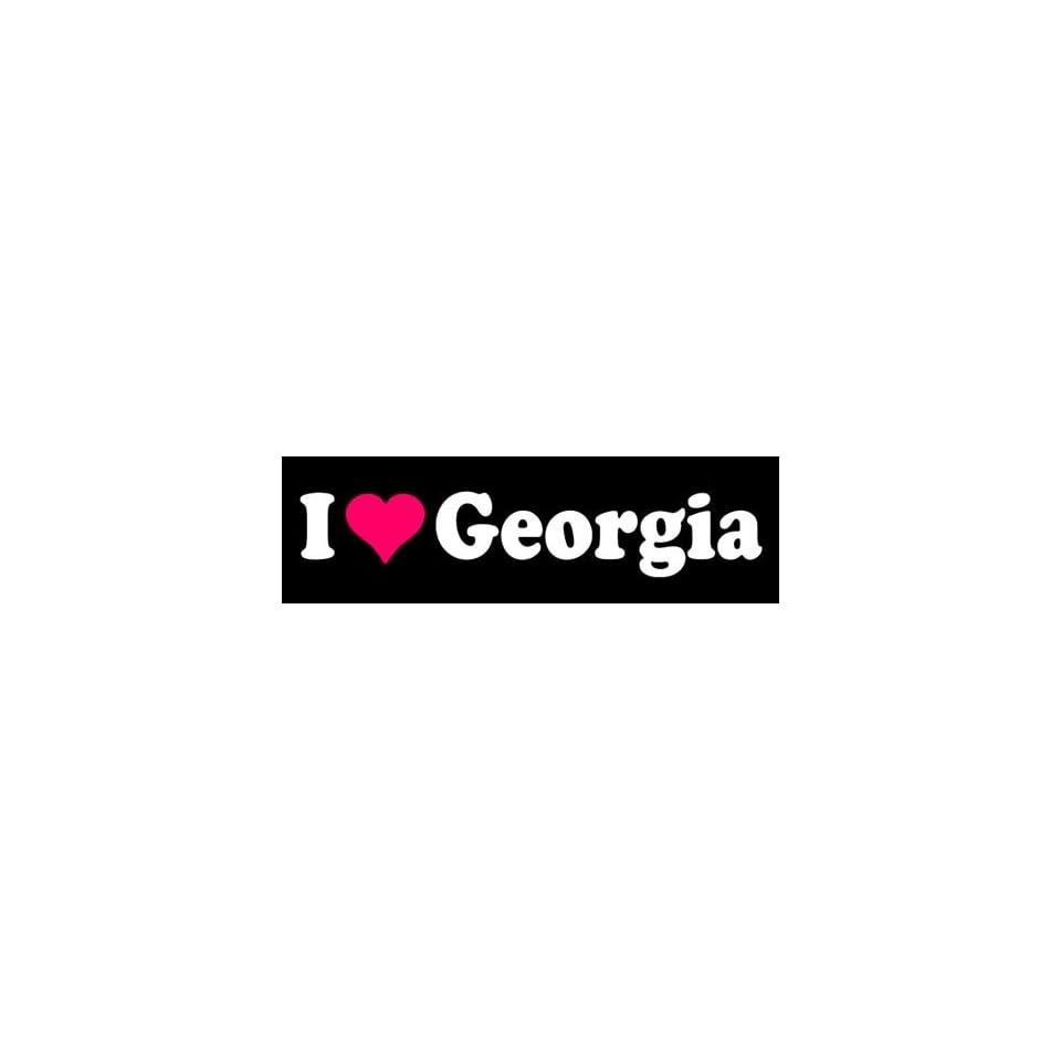 I Love Heart Georgia State Die Cut Vinyl Decal Sticker