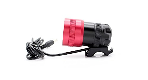 Xl-03 Cree Xm-L T6 3-Mode 420-Lumen Zooming Led Bike Head Light-1*Led, Xm-L T6, 420Lm, 3-Mode, Red - (Premium Quality)