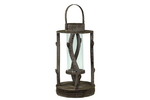 UTC 92015 Wooden Brown Wooden Lantern Urban Trends Collection B004QZBQYY