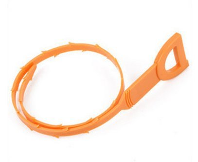 Wild Tribe Hair Drain Clog Remover Drain Snake Cleaning Tool, Quick and Easy Drain Unclogger,Orange