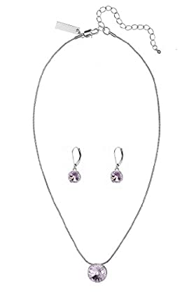 Autograph Necklace & Earrings Set MADE WITH SWAROVSKI® ELEMENTS