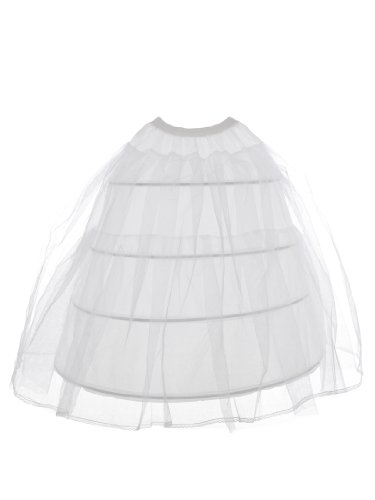Topwedding Women's 3-Layer Nylon and Tulle Bride Petticoat Underskirt Crinolin