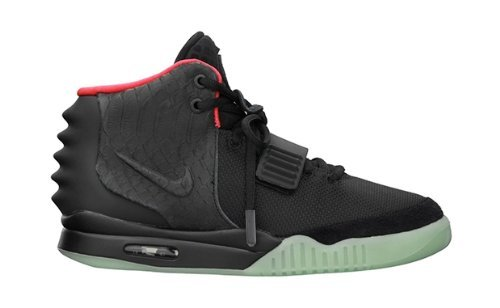 Nike Air Yeezy 2 NRG Black Solar Red style # 508214-006 (10.5) (Nike Air Yeezy 2 Nrg compare prices)