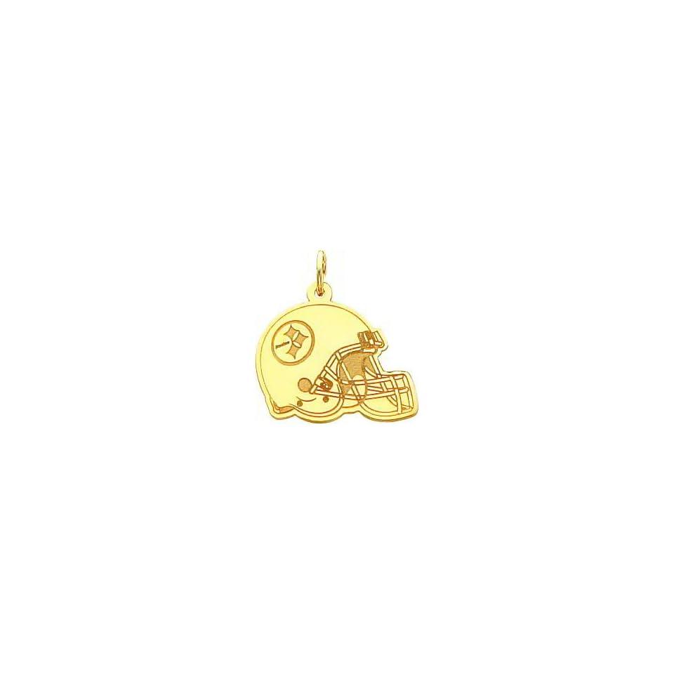 14K Gold NFL Pittsburgh Steelers Football Helmet Charm