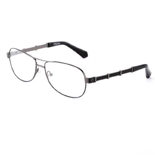 Affliction OWEN Designer Eyeglasses - Shiny Black/Silver