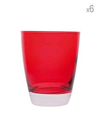 JoyFul Christmas Set 6 Bicchieri Happy Colour Rosso