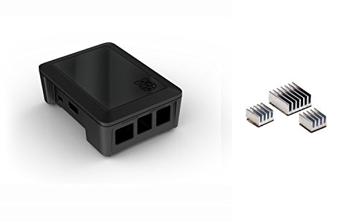 Raspberrypicafe® Bundle: Raspberry Pi Model A+ / B+ Modular Case & Aluminum Heat Sinks
