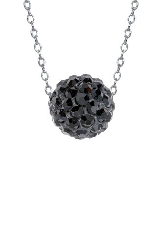 Authentic Black Diamond Color Crystals , Includes Sterling Silver Chain 18 Inches Rolo. Now At Our Lowest Price Ever but Only for a Limited Time!