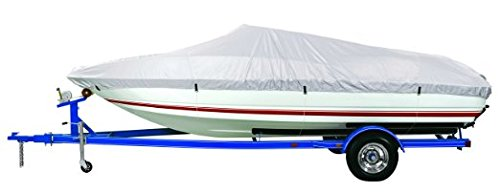 """Goodsmann 150 Denier boat cover, Silvery gray ,water resistant,weather protection,trailerable,9921-0121-13 (C Fits 16'-18.5' Boats - Beam width to 94"""")"""