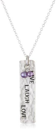 Lotus Jewelry Studio Live Love Laugh Phrase Pendant Necklace
