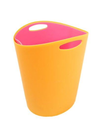 Mebby, Secchio portaoggetti per gli accessori del neonato, Arancione (Orange et Fuchsia)