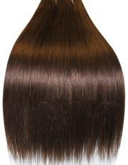 26 inch MEDIUM DARK BROWN (col 4) . Full Head Human Hair Weave for sew in or glue in. High quality Remy Hair Weft!. 100g Weight