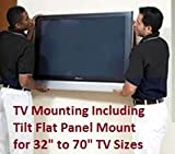 Flat Screen TV Installation WITH TILTING MOUNT & Setup Service. Tuning and Training Included. South Florida Area: Palm Beach and Broward Counties. Klein Tech Systems LLC, Delray Beach, FL. www.kleintechsys.com, 561-266-9821, email: support@kleintechsys.com