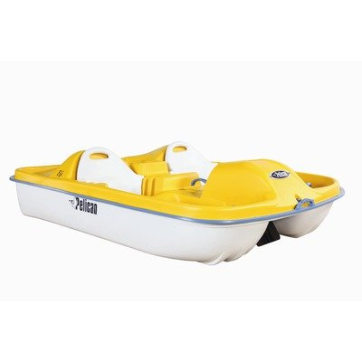 Image of Fiji Three Person Pedal Boat with Yellow Deck and White Hull (B004OQFT8O)
