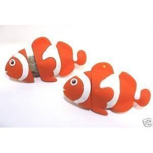 Novelty 32GB USB Flash Drive - Finding Nemo Clown Fish. Keyring Attached Presented in a Gift Box. Comes With a Free 4-Port USB HUB by NUT