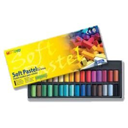 Mungyo Gallery Soft Pastels Cardboard Box Set of 32 Half Sticks - Assorted Colors