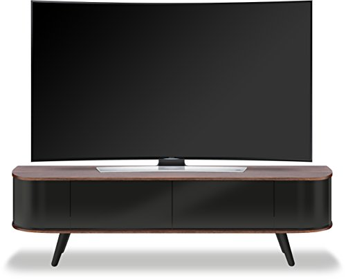 "Centurion Supports LOTTE fascio-thru amichevole remoto ""-55"" Mobile TV a schermo piatto da super-design contemporaneo noce e nero lucido 26"