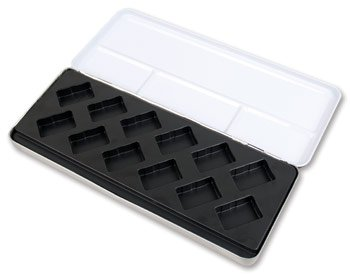 Empty Diagonal Molding Metal Watercolour Box : will hold 12 Full Pans