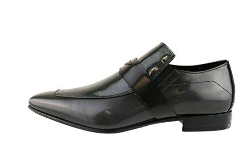 CARLO PIGNATELLI classiche uomo grigio / nero pelle vernice (42,5 EU, Grigio)