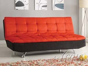 Acme 15342 Kai Microfiber Adjustable Sofa, Red/Black