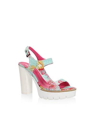 Desigual Sandalette Venice 3 grün/pink