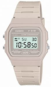 F91WC Classic Digital Water Resistant Watch with Micro Light Grey Resin Strap
