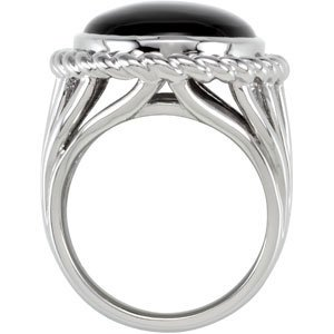 Sterling Silver Genuine Onyx Ring