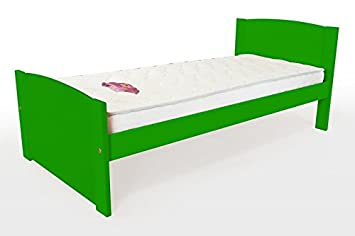 ABC MEUBLES–Cama infantil Eden madera–eden90–verde, 90x 190