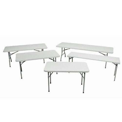 Фото Regency Seating 30-Inch by 72-Inch Rectangle Blow Mold Folding Table, Grey