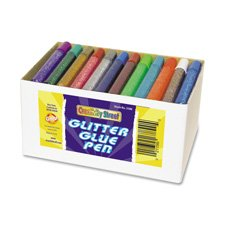 Glitter Glue Pens, 12 Assorted Colors, 10cc Tubes, 72 per Pack