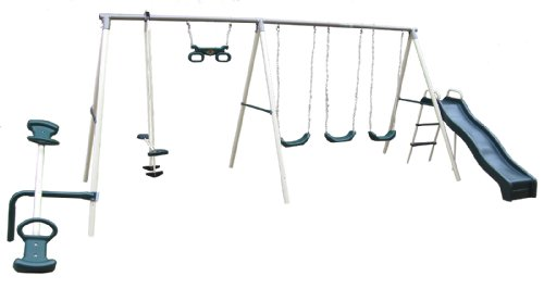 Flexible Flyer Fun Fantastic Swing Set With Plays front-467522