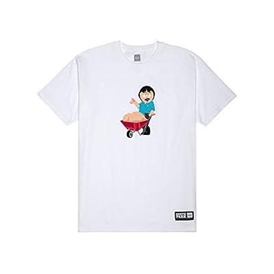 [ハフ]HUF × SOUTH PARK RANDY 420 TEE / ハフ サウスパーク コラボ ランディ Tシャツ 420パック[並行輸入品] (S, ホワイト)