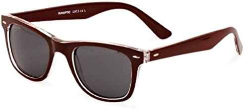 Sunoptic SP112 Wayfarer Sunglasses Burgundy One Size